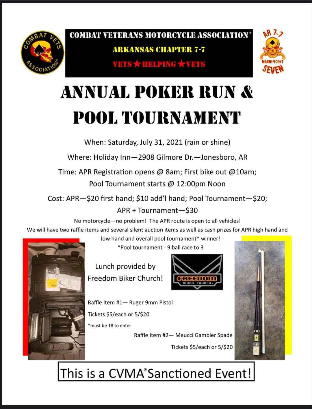 Poker Run and Pool Tournament